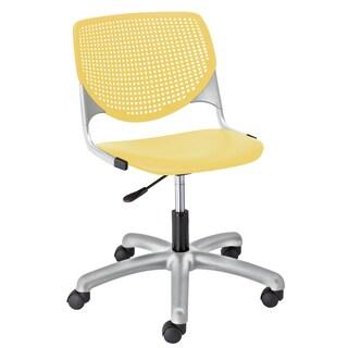 KFI Seating KOOL Yellow Polypropylene and Steel Task Chair