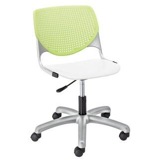 KOOL Brownstone Back/White Seat Task Chair