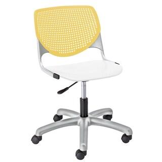 KFI Seating KOOL Yellow and White Task Chair