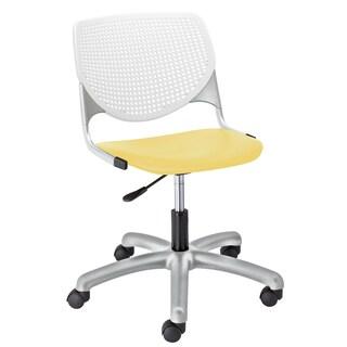 KFI Seating KOOL White and Yellow Polypropylene and Steel Task Chair