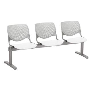 KOOL Light Grey Back White Seat 3-seat Beam Seating