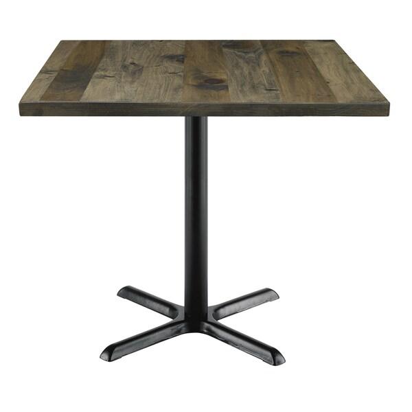 KFI Seating Urban Loft Barnwood/Wood-top Square Vintage Table