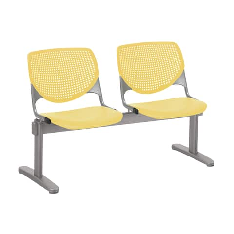 KFI KOOL 2 Seat Waiting Room Chair, Yellow - 2 seats