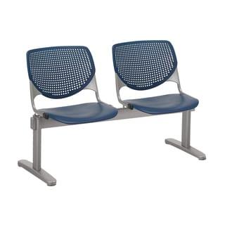 KOOL Navy Polypropylene and Steel 2-person Beam Seating
