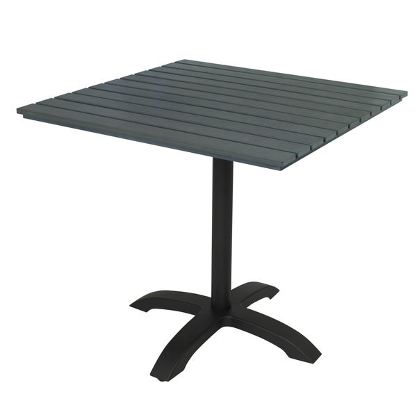 Shop KFI Eveleen Dark Grey Square Outdoor Pedestal Table Free - White square pedestal table