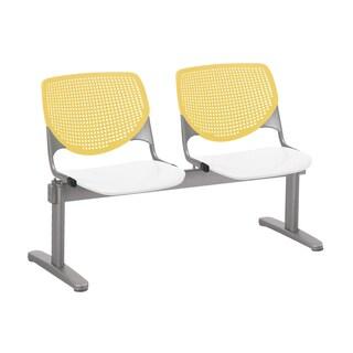 KOOL 2 Seat Beam Yellow Back, White Seat Seating