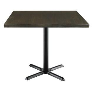 Urban Loft Espresso Wood 42-inch Square Vintage Top Table