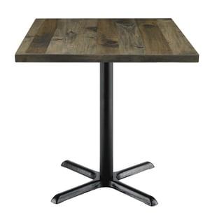 Urban Loft Barnwood/Vintage Wood Top 30-inch Square Table