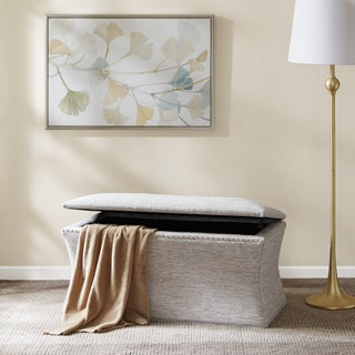 Madison Park Eleanor Grey Multi Storage Bench