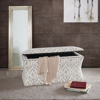 Madison Park Eleanor Cream Multi Storage Bench