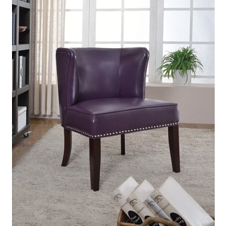 Best Master Furniture Purple Accent Chair (Set of 2)