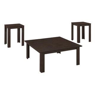 Cappuccino 3-Piece Square Coffee Table Set