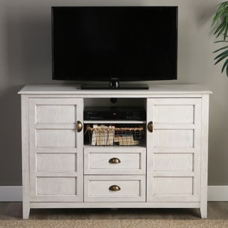 "Angelo:HOME 52"" Rustic Chic White TV Console"