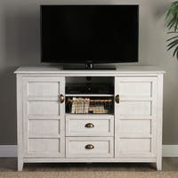 Angelo:HOME 52-inch Rustic Chic White TV Console