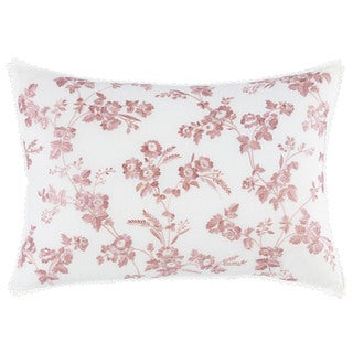 Laura Ashley Olivia White and Pink Breakfast Pillow