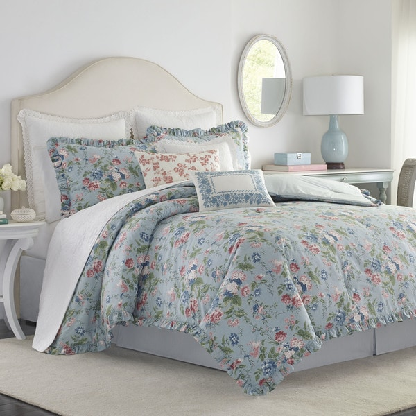 shop laura ashley olivia comforter set free shipping. Black Bedroom Furniture Sets. Home Design Ideas