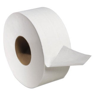 Tork Universal Jumbo Bath Tissue 2-Ply White 3.6-inch wide x 1000-feet long x 8.8-inch Diameter, 12 Rolls