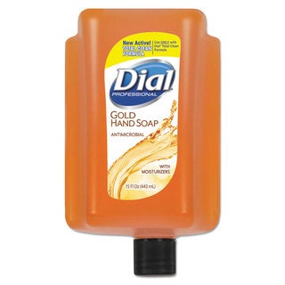 Dial Antimicrobial Liquid Soap 15-ounce Refill Cartridge Refreshing Clean (Box of 6)