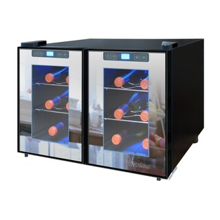 Element by Vinotemp 12-bottle Dual-zone Thermoelectric Mirrored Wine Cooler