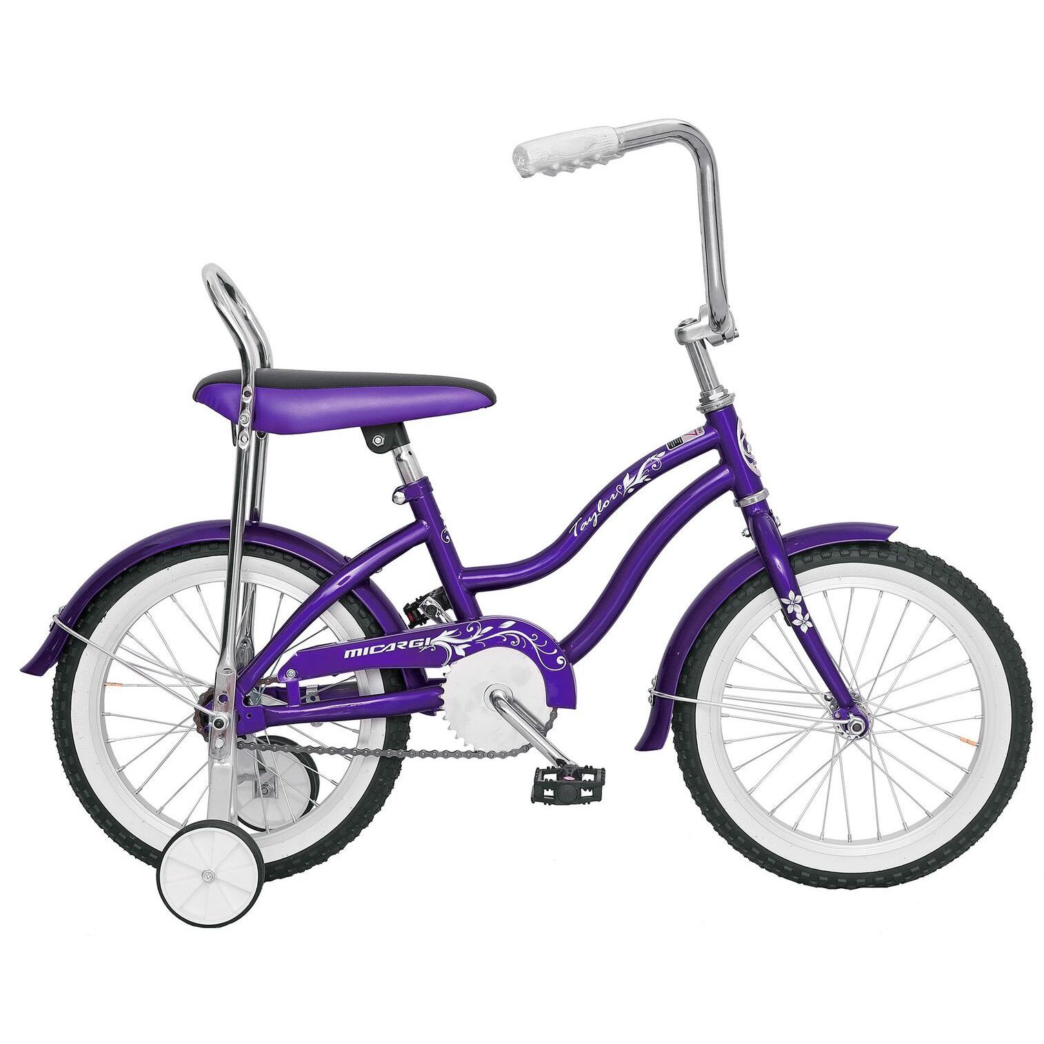 Micargi Taylor Girls' Purple 16-inch Bike with Training W...