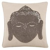 Echelon Home Buddha Head Decorative Throw Pillow