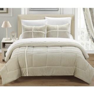 Chic Home Chiron Beige 7-Piece Comforter Set