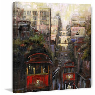 'Up and Down San Francisco' Painting Print on Wrapped Canvas