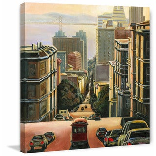 'Tranquility in San Francisco' Painting Print on Wrapped Canvas