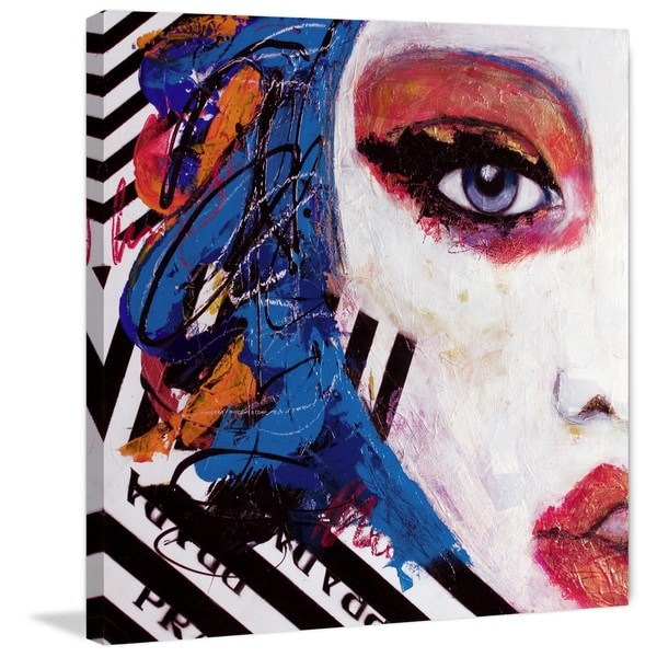 'Real Fantaisies' Painting Print on Wrapped Canvas
