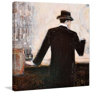 'Bar Scene Man' Painting Print on Wrapped Canvas