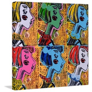 'Russian Dolls Pattern IV' Painting Print on Wrapped Canvas