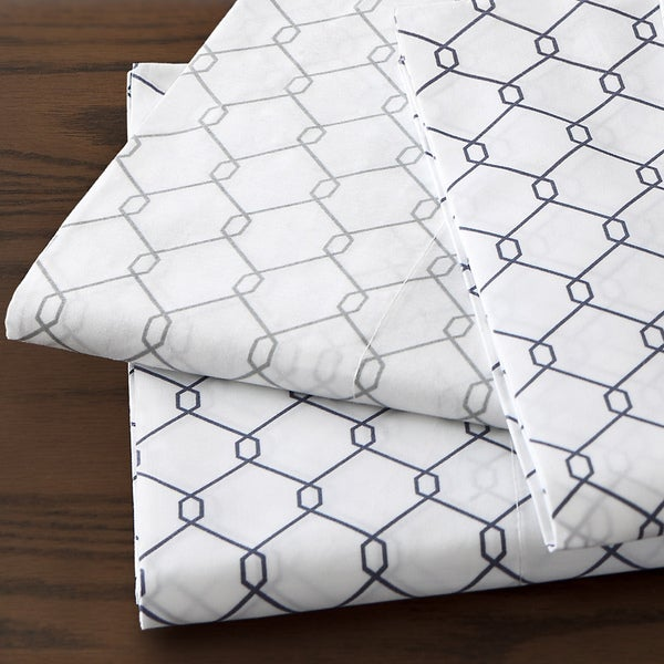 Fence 250 Thread Count Cotton Percale Pillowcases (Set of 2)