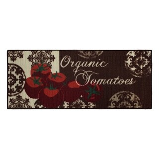 Tomatoes Printed Textured Loop Runner Kitchen Accent Rug - (20 x 48 in.)