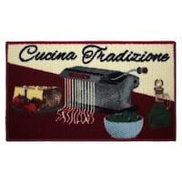 """Cucina Tradizione Printed Textured Loop Oblong Kitchen Accent Rug - 1'5"""" x 2'5"""""""