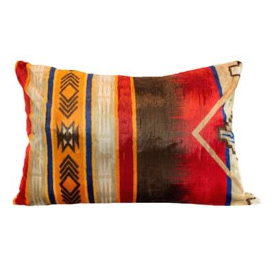 Oversized Southwestern Print Reversible Sherpa Floor Cushions