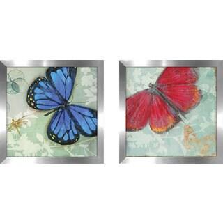 "Art Sets of 2 Twin Set Matching ""In Flight II"" Framed Acrylic Wall Decor"