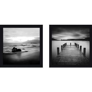 "Art Sets of 2 Twin Set Matching ""Jetty"" Framed Acrylic Wall Decor"