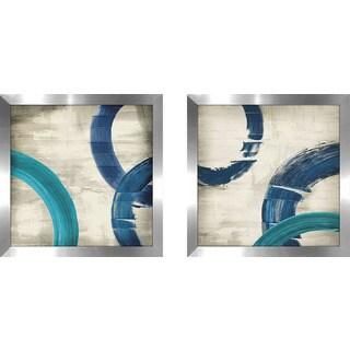 "Art Sets of 2 Twin Set Matching ""Halycon II"" Framed Acrylic Wall Decor"