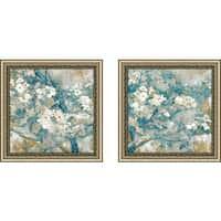 "Art Sets of 2 Twin Set Matching ""Golden Dogwood II"" Framed Acrylic Wall Decor"