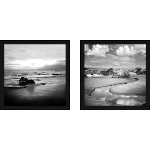 "Art Sets of 2 Twin Set Matching ""Coastal Rocks Hawaii"" Framed Acrylic Wall Decor"