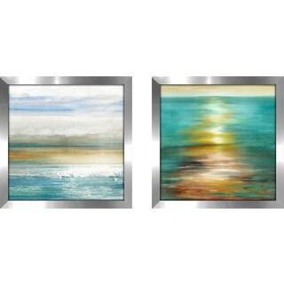"Art Sets of 2 Twin Set Matching ""Dawning I"" Framed Acrylic Wall Decor"