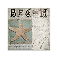 Color Bakery 'Beach Book II' Canvas Art - Off-White