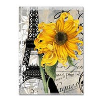 Color Bakery 'Paris Blanc' Canvas Art - Yellow