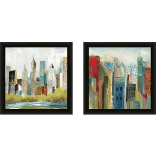 "Art Sets of 2 Twin Set Matching ""Hudson Ferry I"" Framed Acrylic Wall Decor"