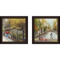 "Art Sets of 2 Twin Set Matching ""Sunlight Avenue II"" Framed Acrylic Wall Decor"