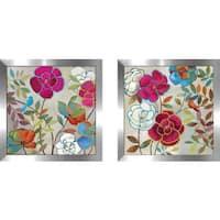 "Art Sets of 2 Twin Set Matching ""Summer Impressions II"" Framed Acrylic Wall Decor"