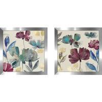 "Art Sets of 2 Twin Set Matching ""Cascade II"" Framed Acrylic Wall Decor"