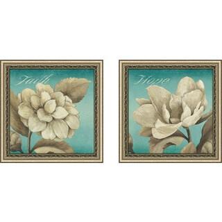 "Art Sets of 2 Twin Set Matching ""Hope"" Framed Acrylic Wall Decor"