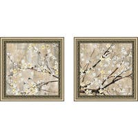 """Art Sets of 2 Twin Set Matching """"Pearls in Bloom II"""" Framed Acrylic Wall Decor"""