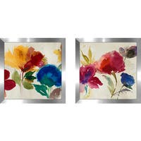"Art Sets of 2 Twin Set Matching ""Inflorescence II"" Framed Acrylic Wall Decor"